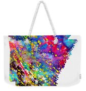 Map Of Arkansas-colorful Weekender Tote Bag