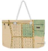 Map Of Auckland 1863b Weekender Tote Bag