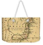 Map Of Brazil 1808 Weekender Tote Bag