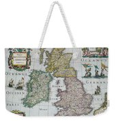Map Of Britain Weekender Tote Bag