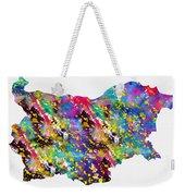Map Of Bulgaria-colorful Weekender Tote Bag
