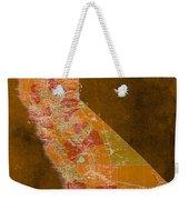 Map Of California, 1898, Orange Background Weekender Tote Bag