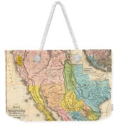 Map Of California New Mexico Texas  1849 Weekender Tote Bag