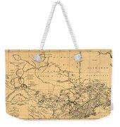Map Of Canada 1762 Weekender Tote Bag