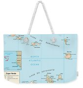 Map Of Cape Verde Weekender Tote Bag