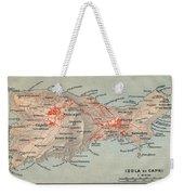 Map Of Capri 1909 Weekender Tote Bag