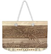Map Of Cleveland 1877b Weekender Tote Bag