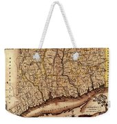Map Of Connecticut 1795 Weekender Tote Bag