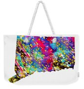 Map Of Connecticut-colorful Weekender Tote Bag