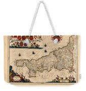 Map Of Cornwall 1646 Weekender Tote Bag