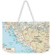 Map Of Croatia Weekender Tote Bag