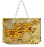 Map Of Cyprus 1562 Weekender Tote Bag