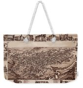 Map Of Dover 1885 Weekender Tote Bag