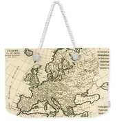 Map Of Europe Weekender Tote Bag by Guillaume Raynal