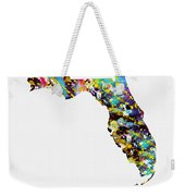 Map Of  Florida-colorful Weekender Tote Bag