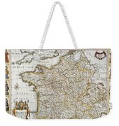Map Of France, 1627 Weekender Tote Bag