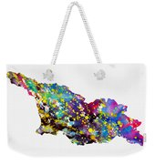 Map Of Georgia-colorful Weekender Tote Bag