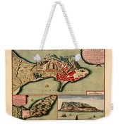 Map Of Gibraltar 1706 Weekender Tote Bag