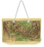 Map Of Grand Canyon 1926 Weekender Tote Bag
