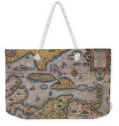 Map Of Gulf Of Mexico And C Weekender Tote Bag