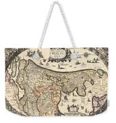 Map Of Holland 1630 Weekender Tote Bag