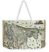 Map Of Holland 1682 Weekender Tote Bag
