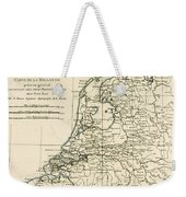 Map Of Holland Including The Seven United Provinces Of The Low Countries Weekender Tote Bag