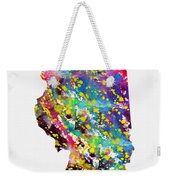 Map Of Illinois-colorful Weekender Tote Bag