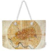 Map Of Imola 1502 Weekender Tote Bag