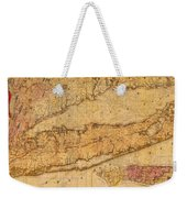 Map Of Long Island New York State In 1842 On Worn Distressed Canvas  Weekender Tote Bag