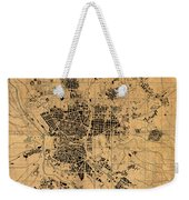Map Of Madrid Spain Vintage Street Map Schematic Circa 1943 On Old Worn Parchment  Weekender Tote Bag