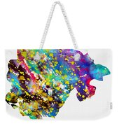 Map Of Montenegro-colorful Weekender Tote Bag