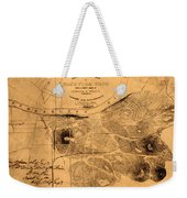 Map Of Nashville 1860 Weekender Tote Bag