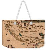 Map Of New Jersey 1672 Weekender Tote Bag