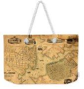 Map Of Norfolk 1851 Weekender Tote Bag