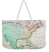 Map Of North America Weekender Tote Bag by English School