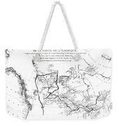 Map Of North America, Plotting The Expeditions Of Sir Alexander Mackenzie In 1789 And 1798 To The Ar Weekender Tote Bag