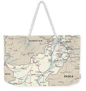 Map Of Pakistan Weekender Tote Bag