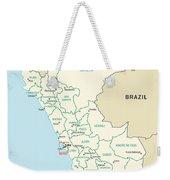 Map Of Peru Weekender Tote Bag