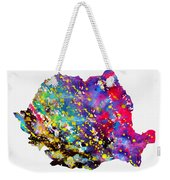 Map Of Romania-colorful Weekender Tote Bag