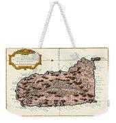 Map Of Saint Lucia 1758 Weekender Tote Bag