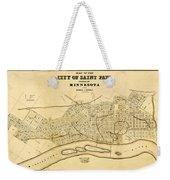 Map Of Saint Paul 1852 Weekender Tote Bag