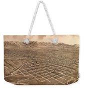 Map Of Salt Lake City 1875 Weekender Tote Bag