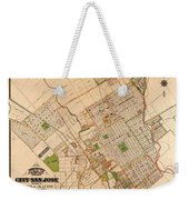 Map Of San Jose 1886 Weekender Tote Bag