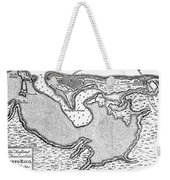 Map Of San Juan, 1766 Weekender Tote Bag