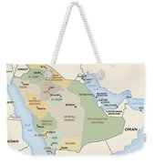 Map Of Saudi Arabia Weekender Tote Bag