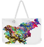Map Of Slovenia-colorful Weekender Tote Bag