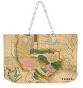 Map Of Texas 1834 Weekender Tote Bag