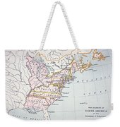 Map Of The Colonies Of North America At The Time Of The Declaration Of Independence Weekender Tote Bag by American School