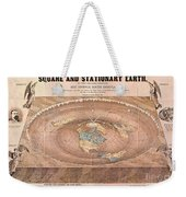 Map Of The Flat Earth Weekender Tote Bag